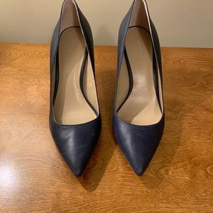 Ann Taylor Leather Pumps in Navy